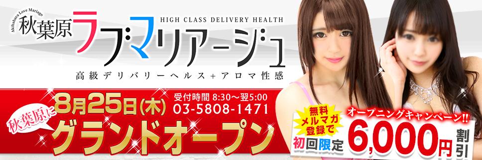 8/25 秋葉原ラブマリアージュOPEN!