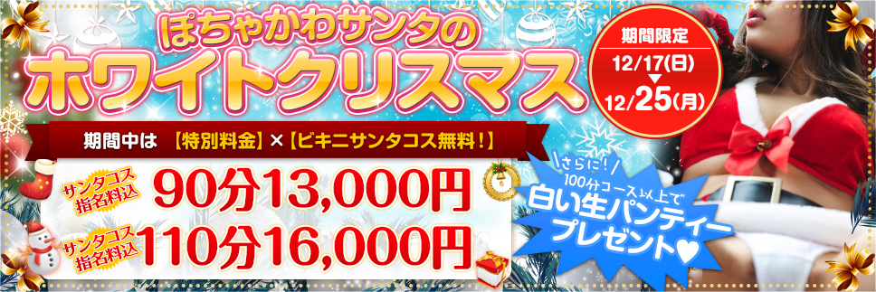 ぽちゃかわサンタの【ホワイトクリスマス】