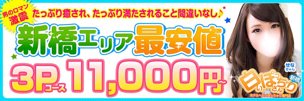 【新橋エリア最安値】3Pコース11,000円!!