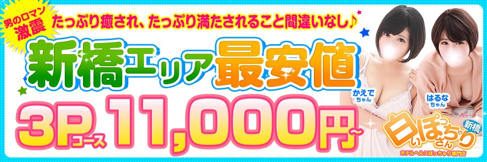 新橋風俗店 【新橋エリア最安値】3Pコース11,000円!!