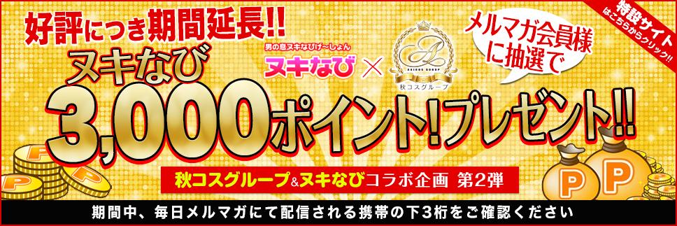 新橋風俗店 3000円分のポイントプレゼントキャンペーン
